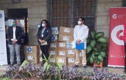 El Embajador de España en Honduras, Sr. Guillermo Kirkpatrick, acompaña a Médicos del Mundo en la donación de insumos médicos